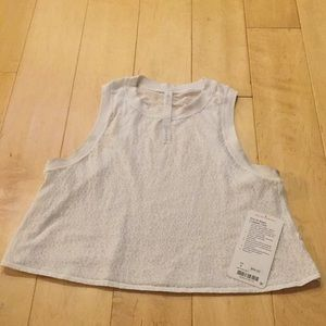 Hint of sheer cropped tank size 6